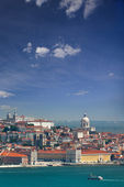 Panorama of Alfama and Graca, cityscape of Lisbon, Portugal, Eur — Stock Photo