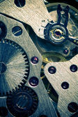 Macro Mechanical Gear Background — Stock Photo