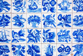 Handmade traditional Portugese Tile (azulejos), Lisbon, Portugal — Stock Photo