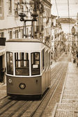 Lisbon's Gloria Funicular - Portugal, Europe — Stock Photo