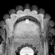 Mosque arch, Interior detail with beautiful decoration. Black an — Stock Photo