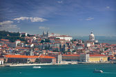 View of Alfama and Graca, cityscape of Lisbon, Portugal, Europe — Stock Photo