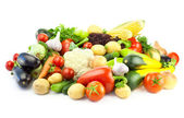 Different Vegetables - Big Assortment of Food isolated — Stock Photo