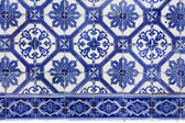 Handmade traditional Portugese Tile (azulejos), Lisbon, Europe — Stock Photo