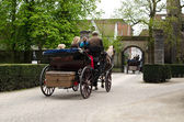 Ride on carriage, Bruges, Belgium — Stock Photo