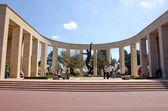 Monument aux morts de la guerre, la plage omaha, normandie, france — Photo