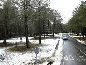 Snowy landscape, Spain. — Stock Photo
