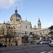 Stock Photo: Cathedral of the Almudena, Madrid, Spain.