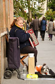 Lady with accordion, Seville Spain. — Stock Photo
