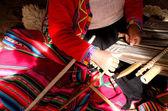 Women weavers of Peru — Stock Photo