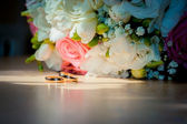 Closeup of wedding bouquet — Stock Photo