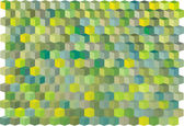 Abstract cubical multiple green yellow pattern backdrop — Stock Vector
