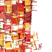 Abstract fragmented pattern in pink orange red — Stockfoto