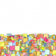 Abstract composition with candy color square plane — Stock Photo