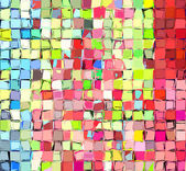 Abstract fragmented tile multi color backdrop — Stock Photo