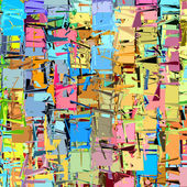Abstract fragmented pattern in rainbow color — Stock Photo
