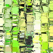 Abstract fragmented plane pattern green yellow backdrop — Stock Photo