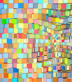 Abstract fragmented pattern in rainbow color on white — Stock Photo