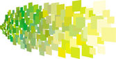 Abstract composition with green yellow square plane — Cтоковый вектор