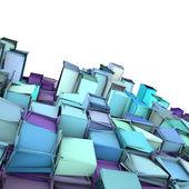 Abstrakt 3d form bakgrund i blå lila — Stockfoto