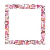 ピンク マゼンタ正方形平面構成する抽象的なフレーム — ストック写真