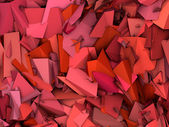 3d abstract fragmented pattern pink red backdrop — Stock Photo