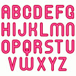 Stock Photo: Pink glossy bubble alphabet font