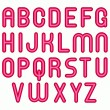 Pink glossy bubble alphabet font — Stock Photo