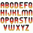 German flag glossy shiny bubble fonts — Stock Photo