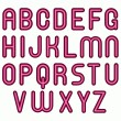 Pink satin like sexy funny bubble font — Stock Photo