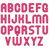 шрифт алфавит розовый глянцевый пузырь — Стоковое фото