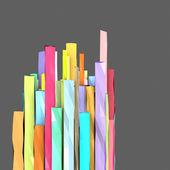 3d kompozici s obdélníkových tvarů ve více barevných — Stock fotografie