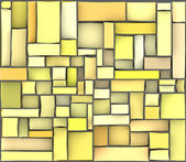 Yellow orange abstract pattern tile surface backdrop — Stock Photo