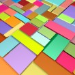 Stock Photo: Rainbow color abstract pattern tiled surface backdrop