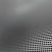 3d plateado cromo paño rejilla ondulado como telón de fondo de patrón — Foto de Stock
