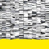 Фрагментированные абстрактный хром серебряный 3d формы на желтом — Стоковое фото
