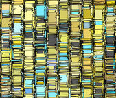 Abstract fragmented backdrop pattern in blue yellow gray — Stock Photo