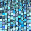 Abstract fragmented backdrop pattern in blue — Stock Photo #13329985