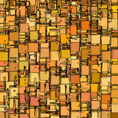Abstract fragmented backdrop pattern in orange — Stock Photo