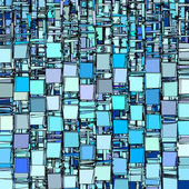 Abstract fragmented backdrop pattern in blue — Stock Photo