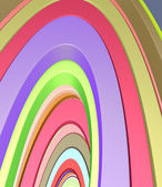 3d abstract curved shape in rainbow color — Stock Photo