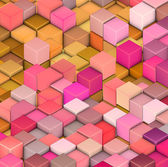 Abstract 3d cube shape backdrop in pink yellow orange — Stock Photo