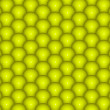 Abstract 3d render backdrop of glossy yellow green balls — Stock Photo