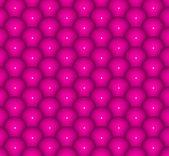Astratto 3d rendering sullo sfondo di palline rosa lucidi — Foto Stock