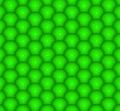 Abstraktní 3d vykreslení pozadí lesklé zelené kuličky — Stock fotografie