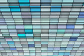 3d render abstract multiple blue tiled backdrop — Stock Photo