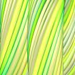 3d render green yellow organic wave pattern — Stock fotografie