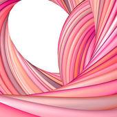 3d abstrakt render rosa rot Bio Wellenmuster — Stockfoto