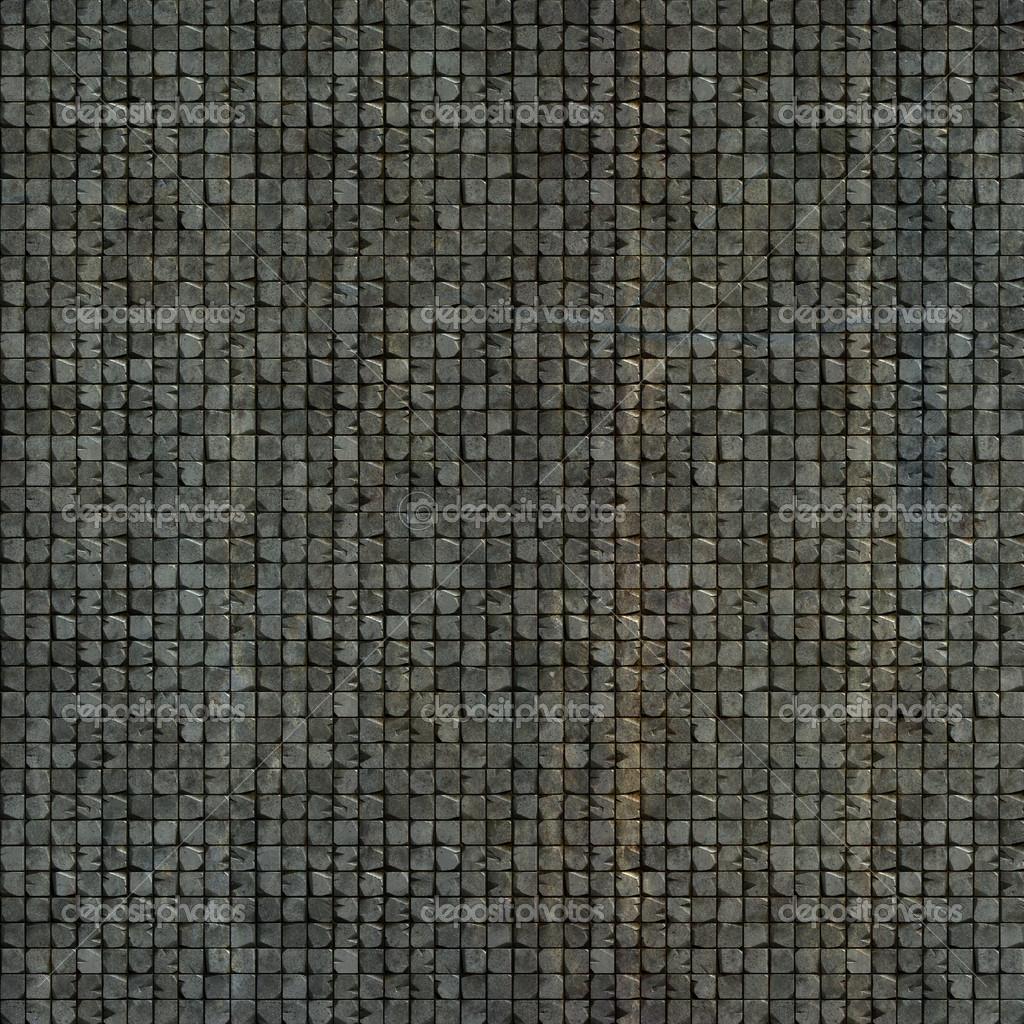 3D Fliesen Wand Mosaikboden in grau Beige Grunge-Stein — Stockfoto ...