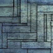 Abstract 3d blue wood timber plank backdrop — Stock Photo